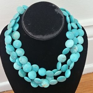 Stella Dot Turquoise Sea Necklace Sterling silver